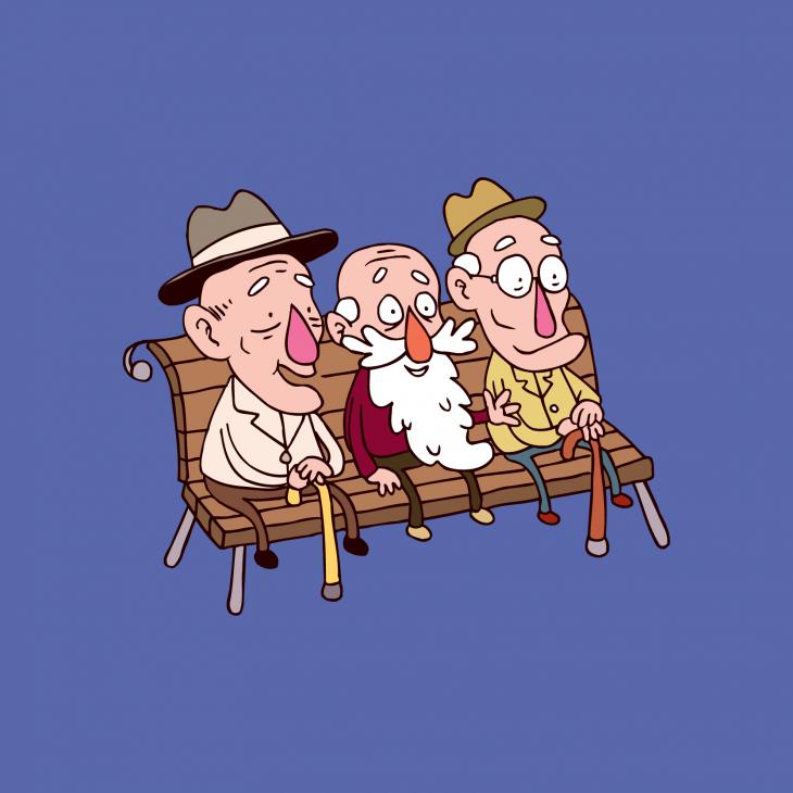 Три старика на лавочке