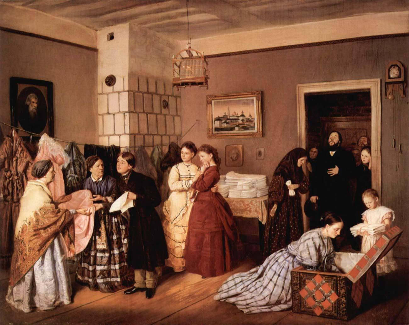 Приём приданого в купеческой семье