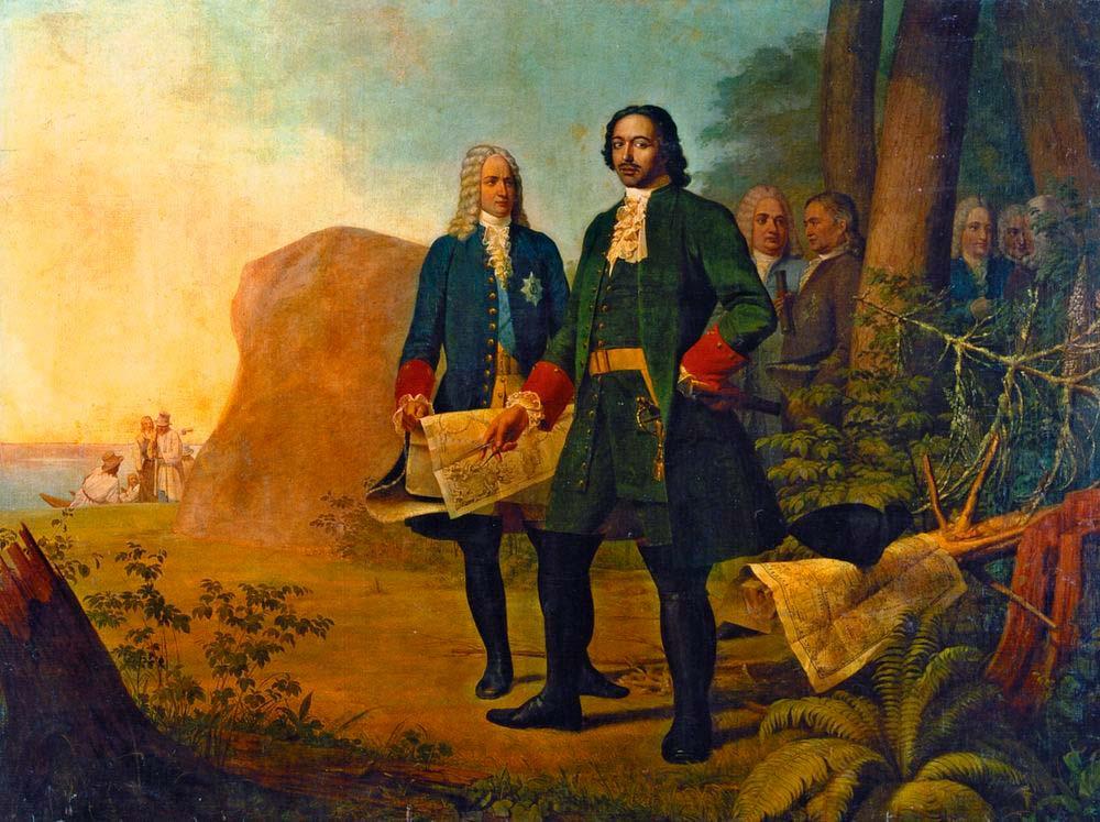 Картина «Пётр Великий. Основание Санкт-Петербурга»