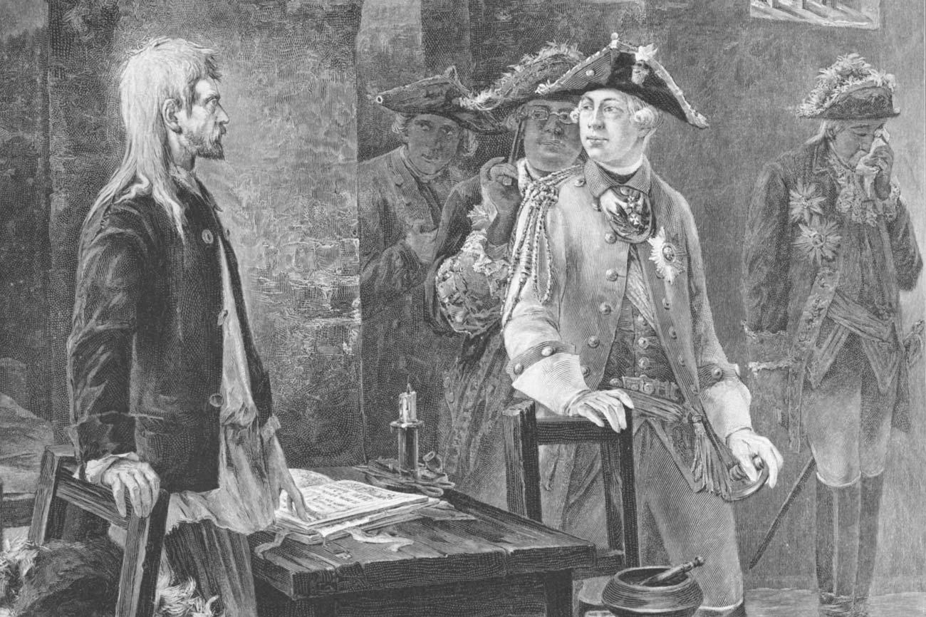 Пётр III посещает Иоанна Антоновича