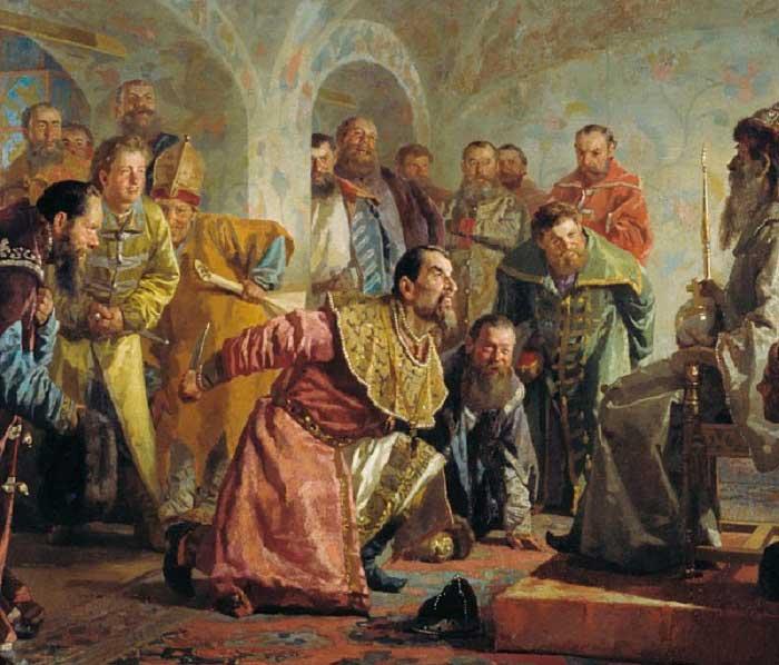 Картина «Опричники» — Н. Неврев, 1904 год.