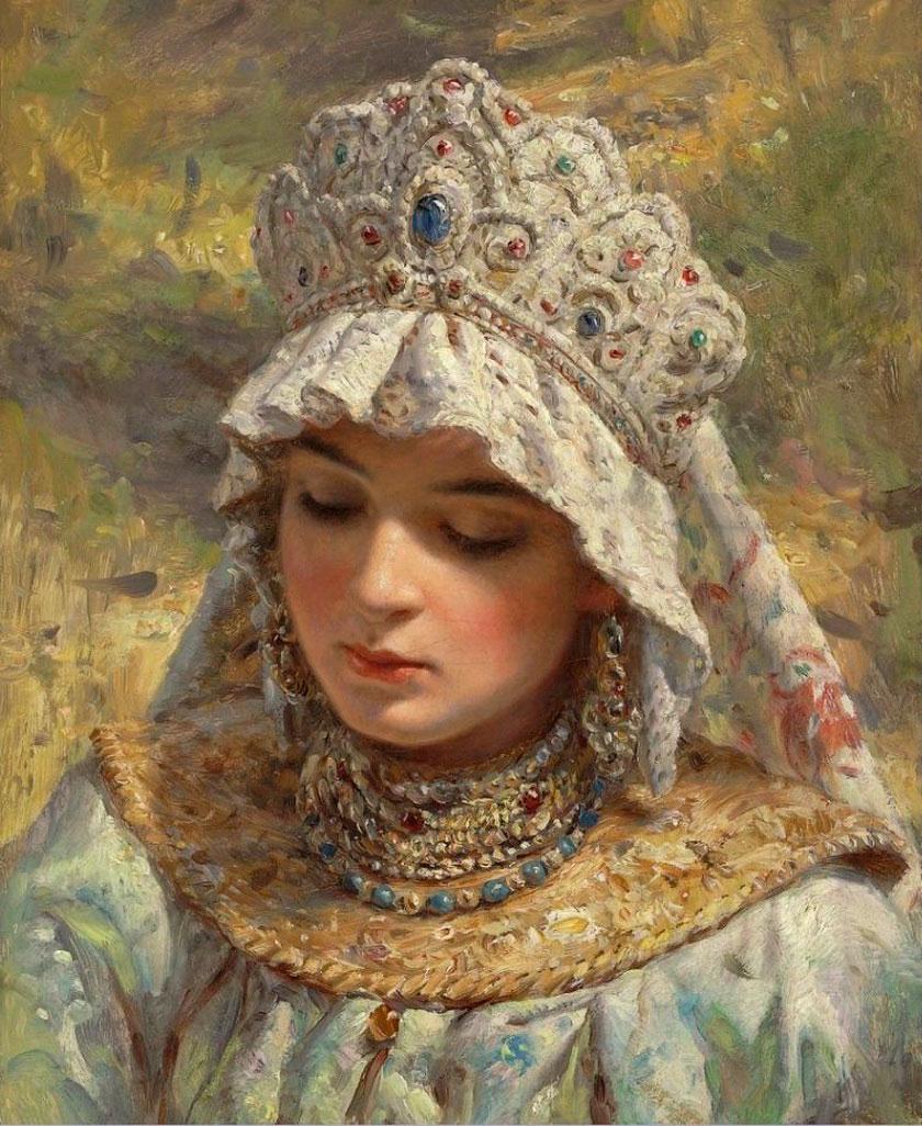 Русская красавица вкокошнике