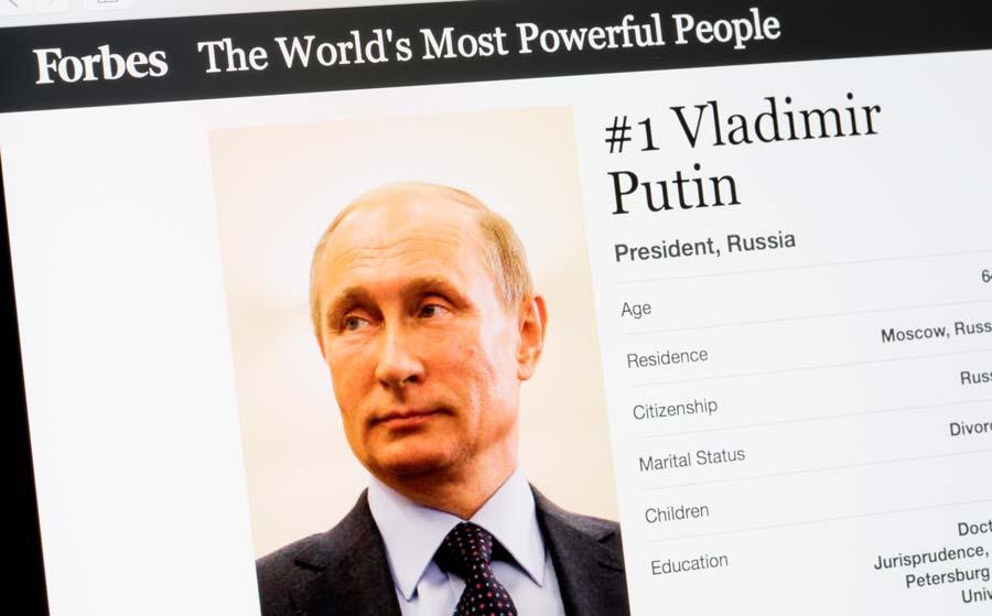 Forbes от24февраля 2017 года — Владимира Путин самый влиятельный человек в мире