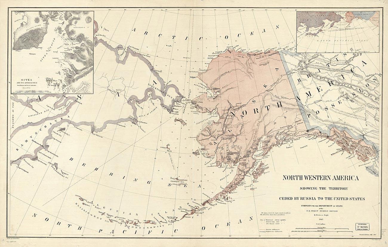 Карта территорий Северо-Западной Америки
