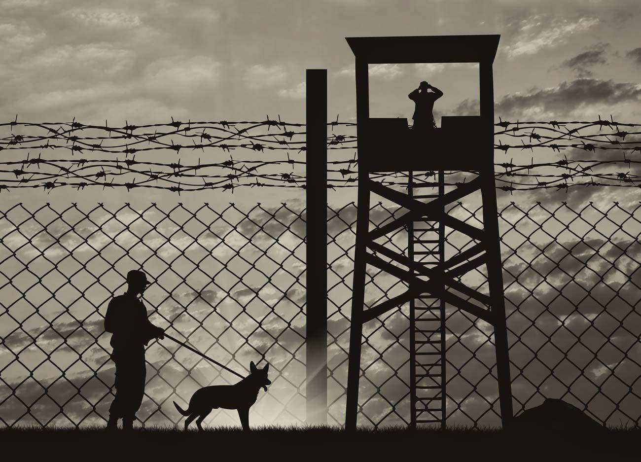 Охрана периметра тюрьмы