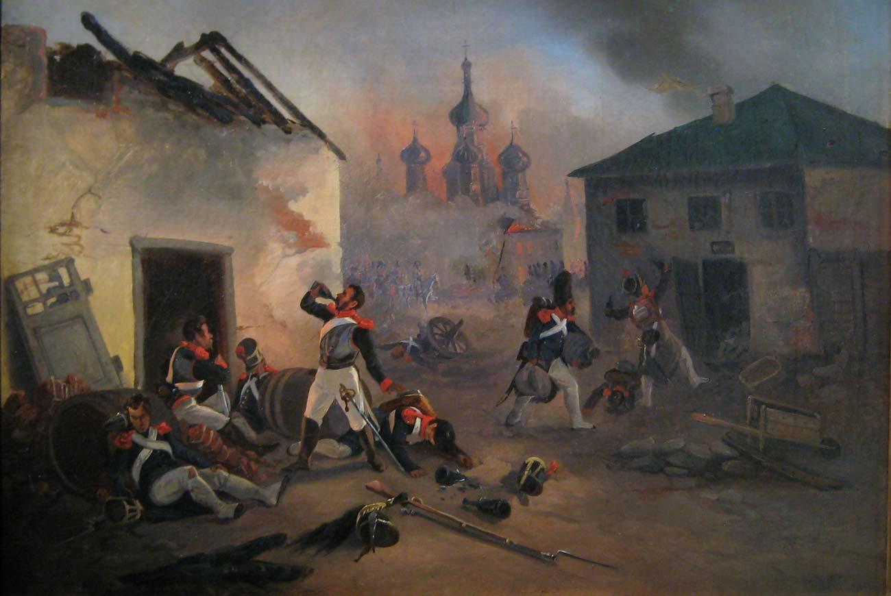 Бесчинство французов в Москве