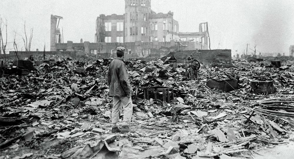 Последствия бомбардировки вЯпонии