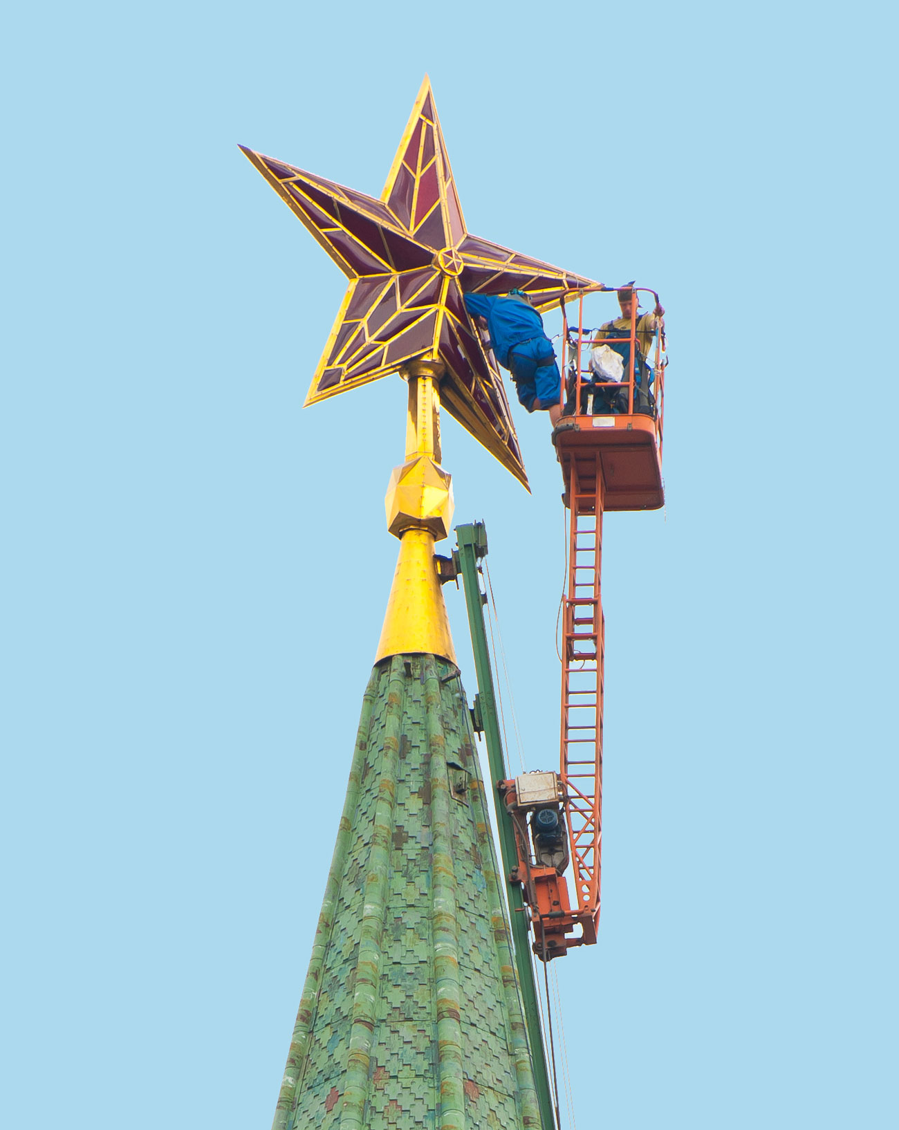 Звезда на Спасской башне