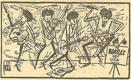 Карикатура на Beatles