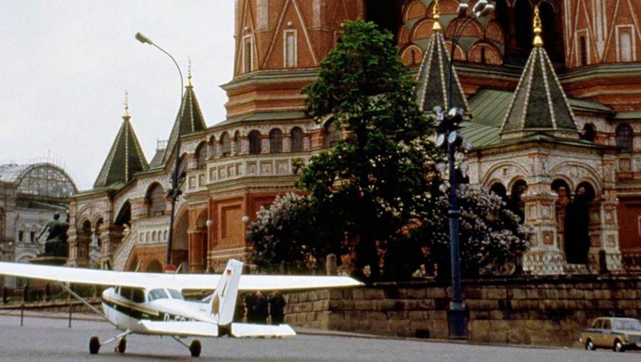 Самолет на Красной площади