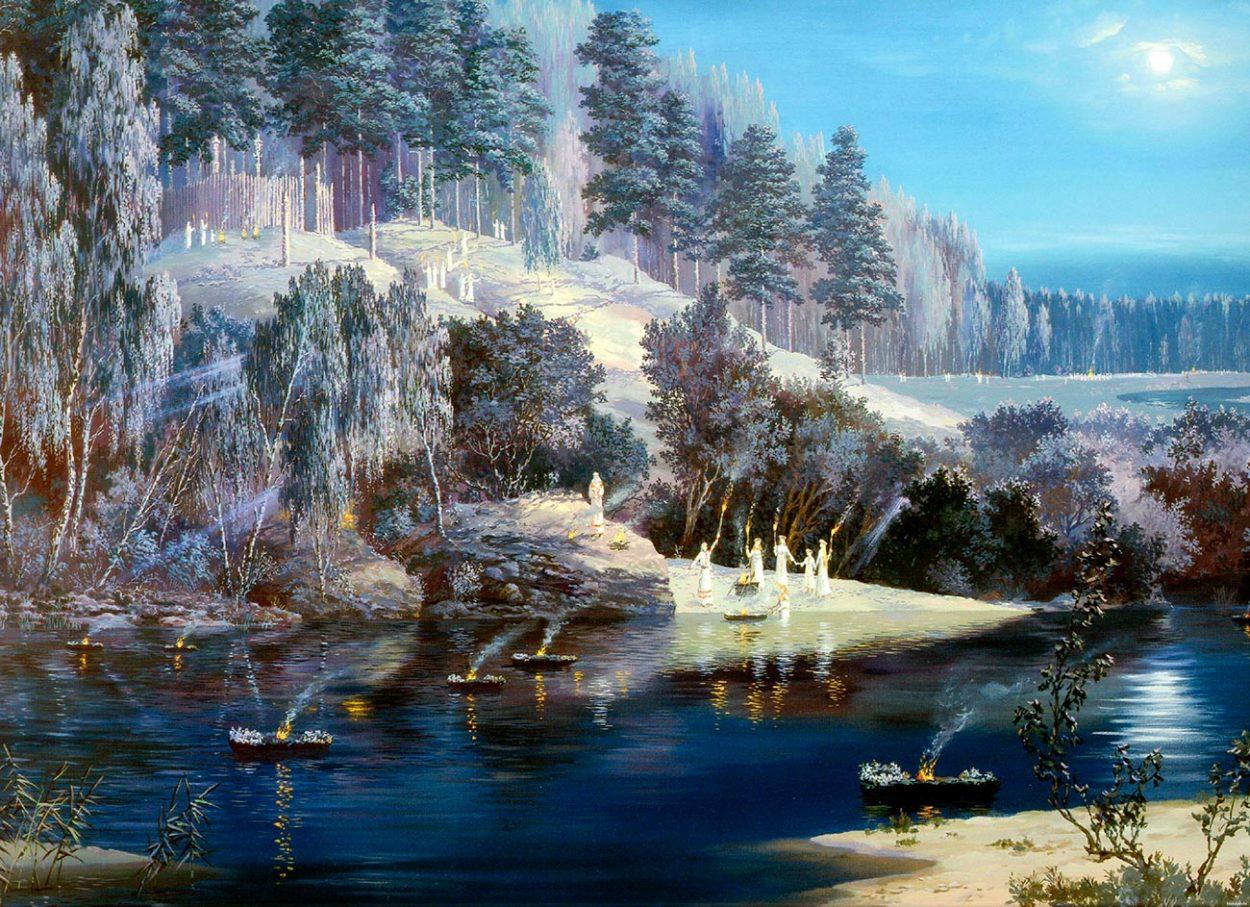 Картина В. Иванова «Ночь накануне праздника Купалы»