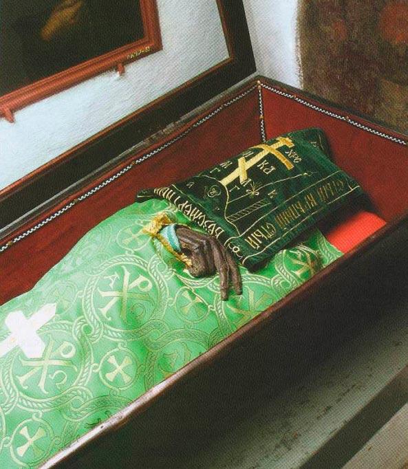 Мощи Ильи Печёрского в монастыре Киево-Печёрская лавра