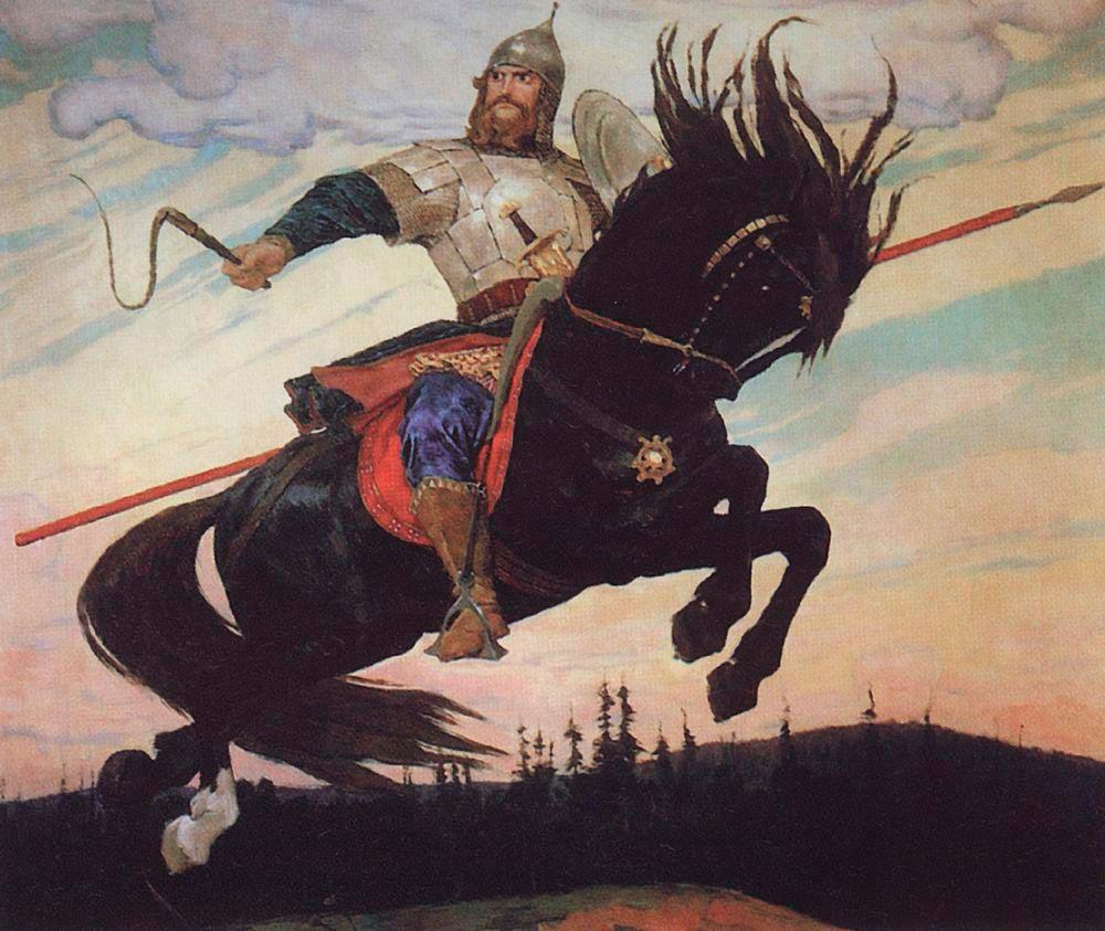 Картина  В. Васнецова «Богатырский скок»