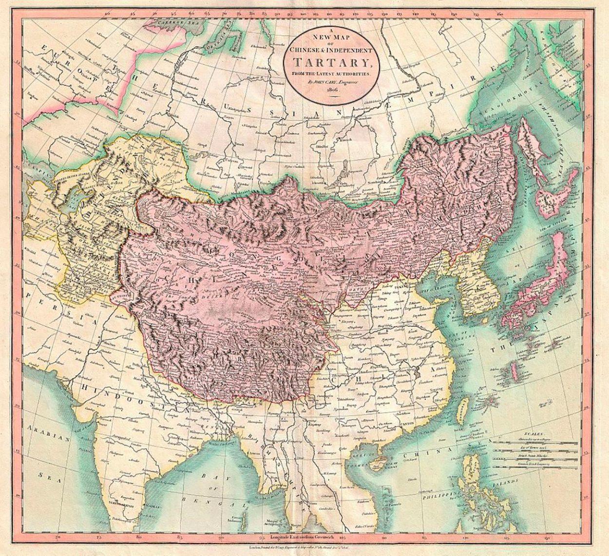 Карта Тартарии 1806 года