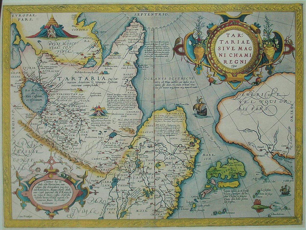Карта Тартарии. 1570 год