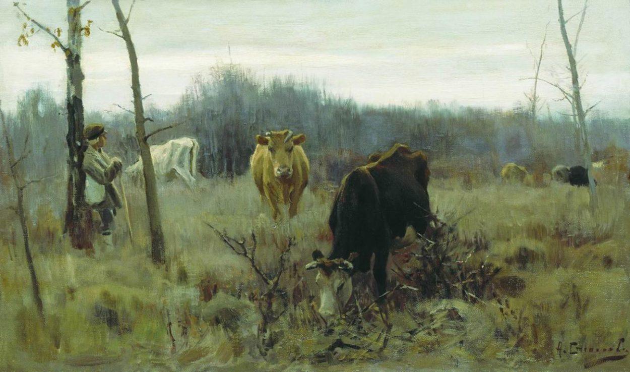 Картина  А. Степанова «На пастбище».