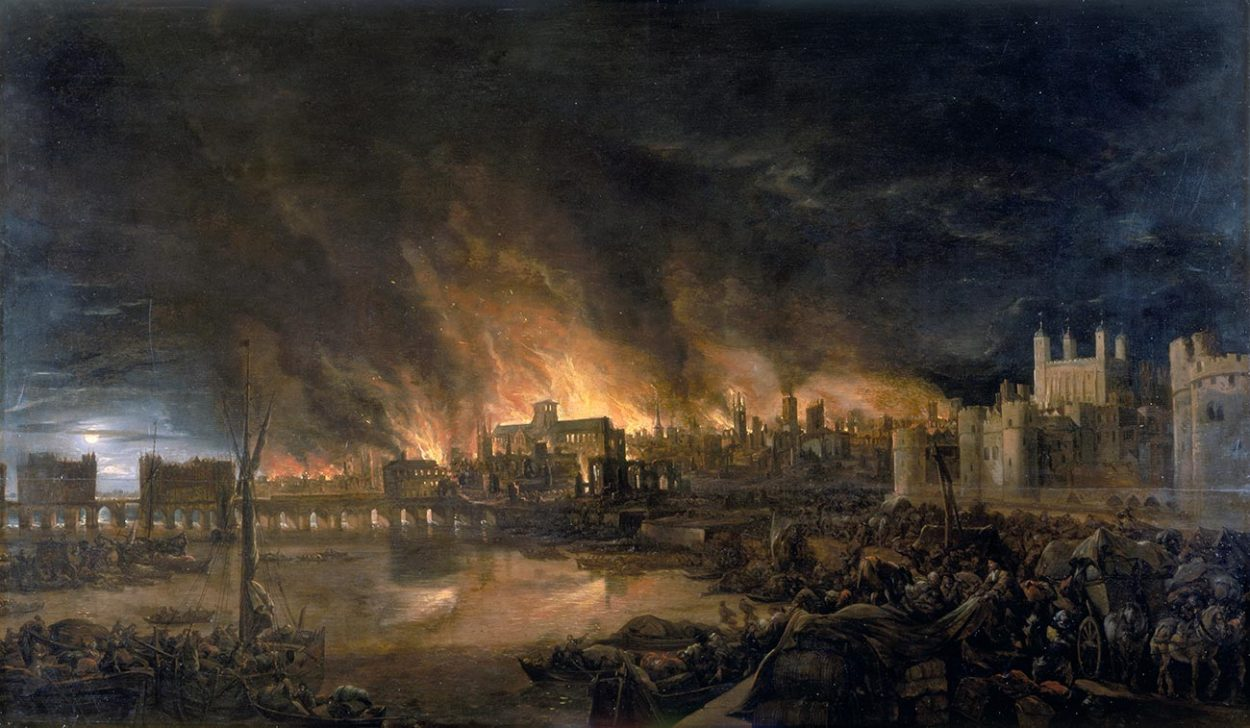 Картина «Великий лондонский пожар»