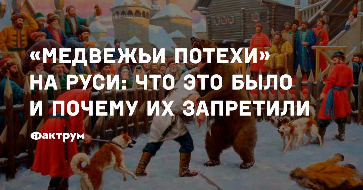 «Медвежьи потехи» наРуси: что это было ипочему ихзапретили