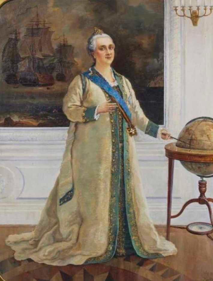 Екатерина II в мундирном платье