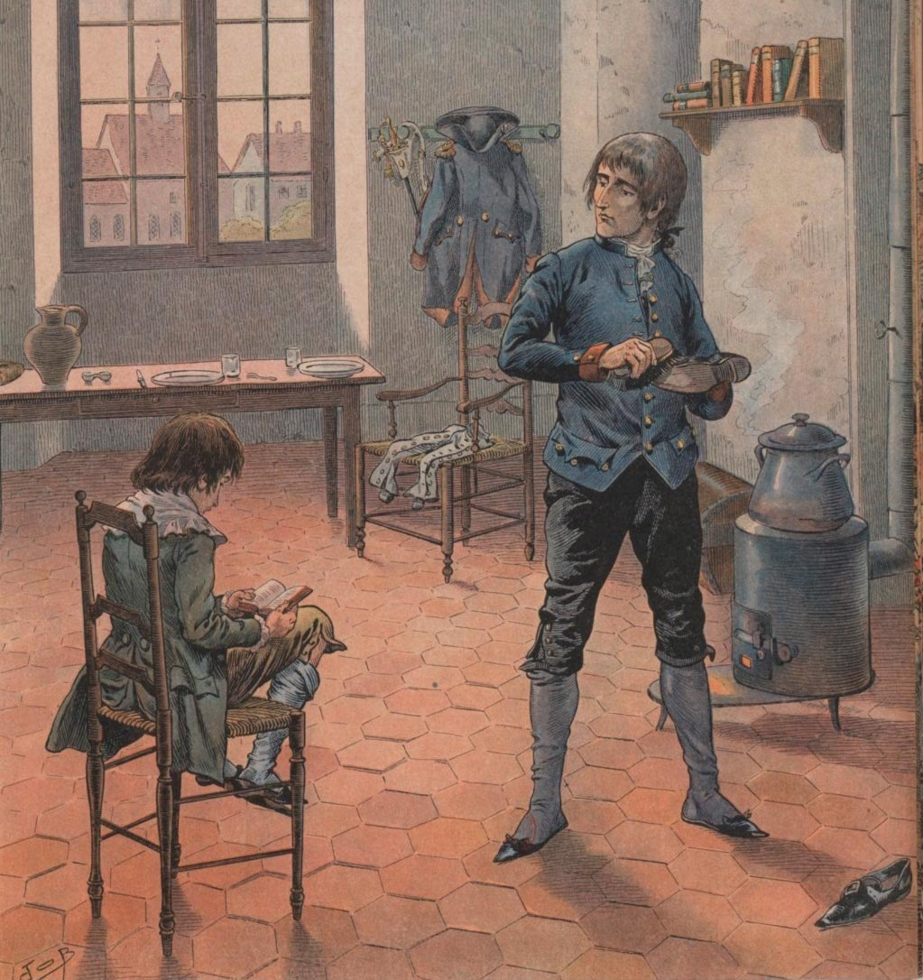 Де Бревиль «Наполеон и его младший брат Луи в Осоне»