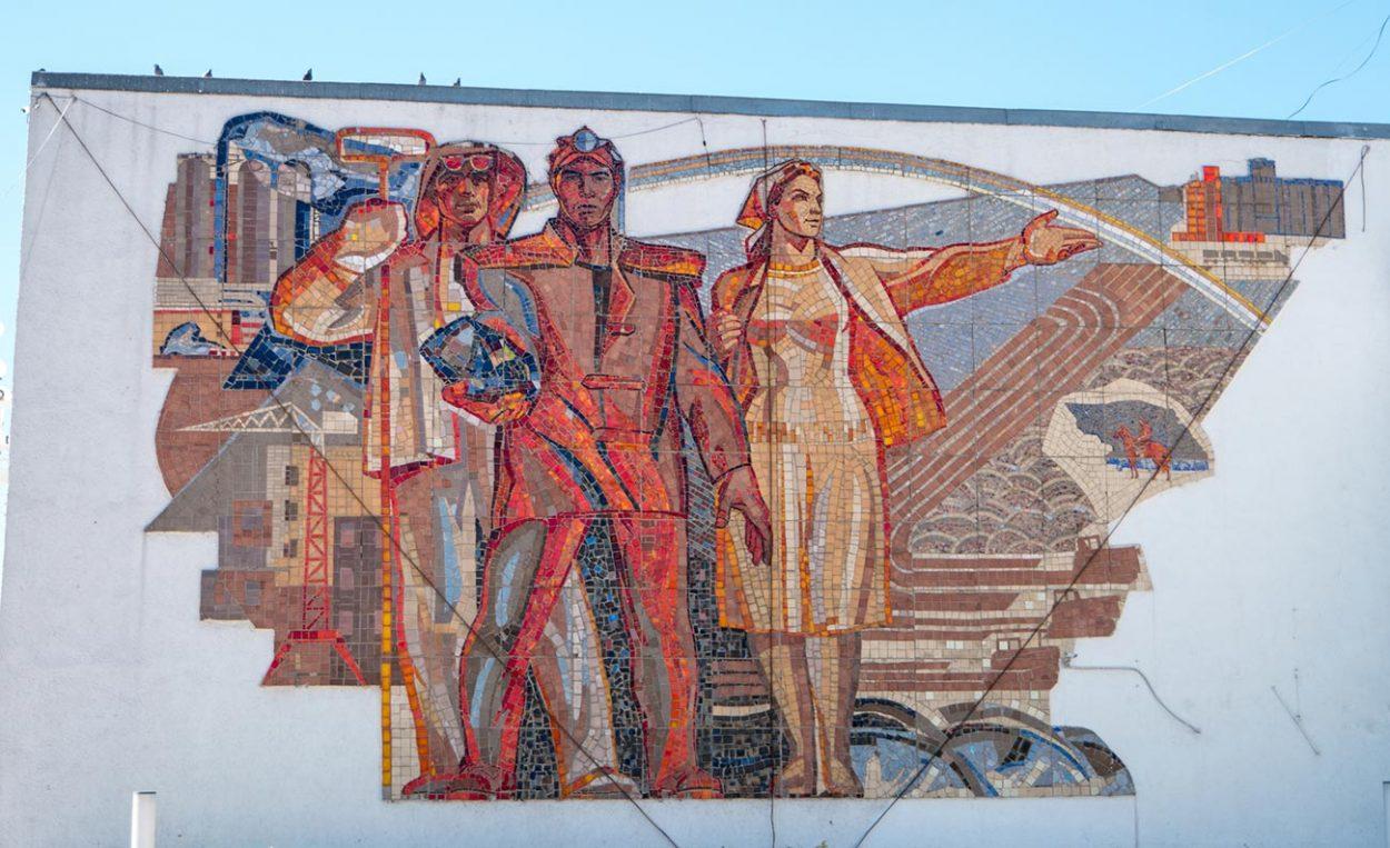 Мозаичное панно в Караганде