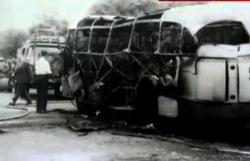 Взрыв автобуса в Краснодаре.