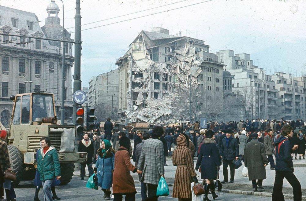 Последствия землетрясения в Румынии