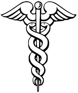 Символ посох Гермеса