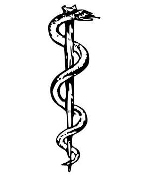 Символ посох Асклепия