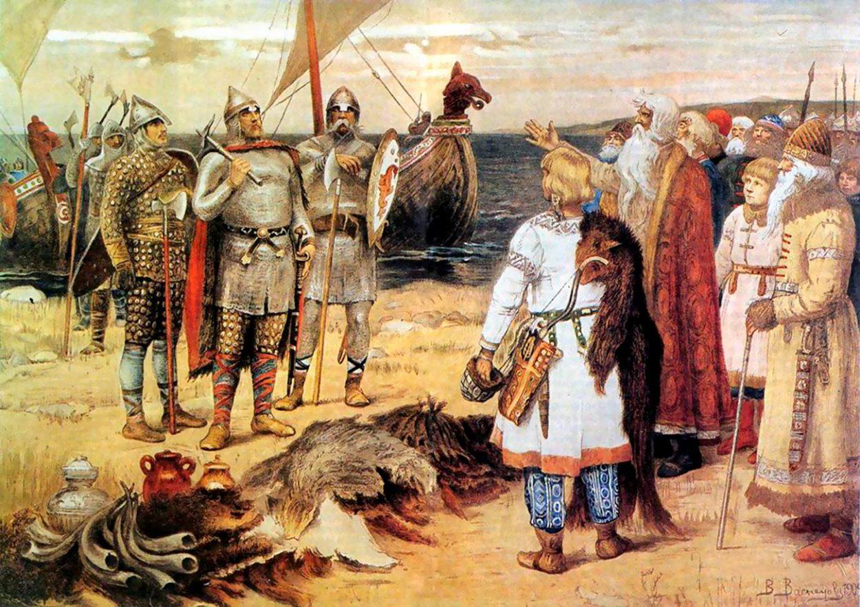 Картина В. Васнецова «Прибытие Рюрика в Ладогу»