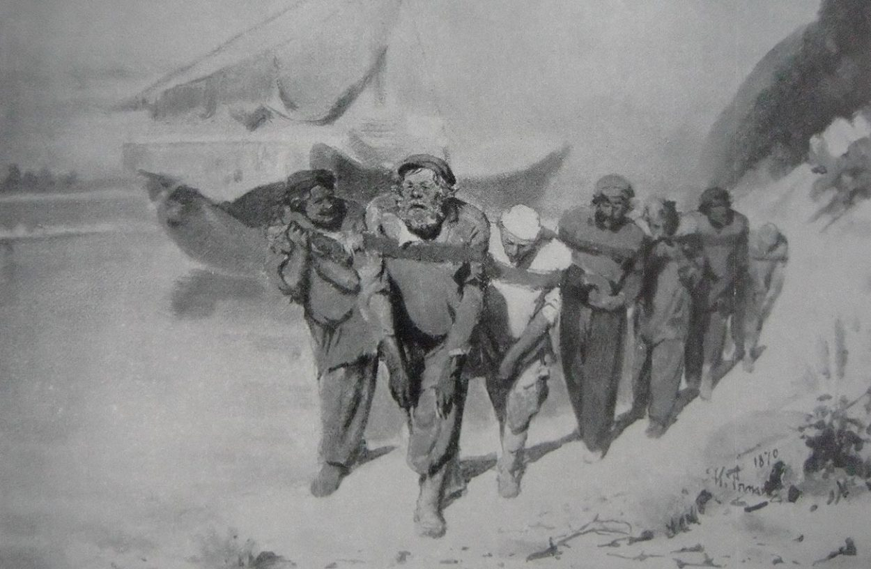 Эскиз-вариант «Бурлаков». 1870 год