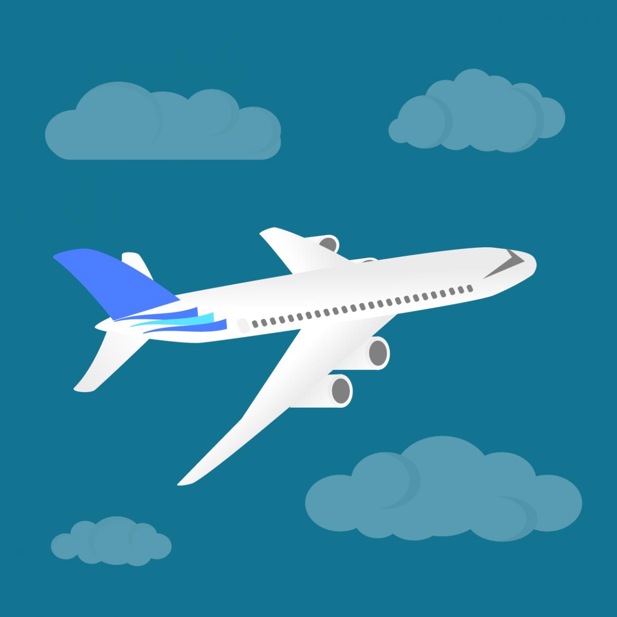 Иллюстрация к анекдоту про двух статистов на борту самолёта