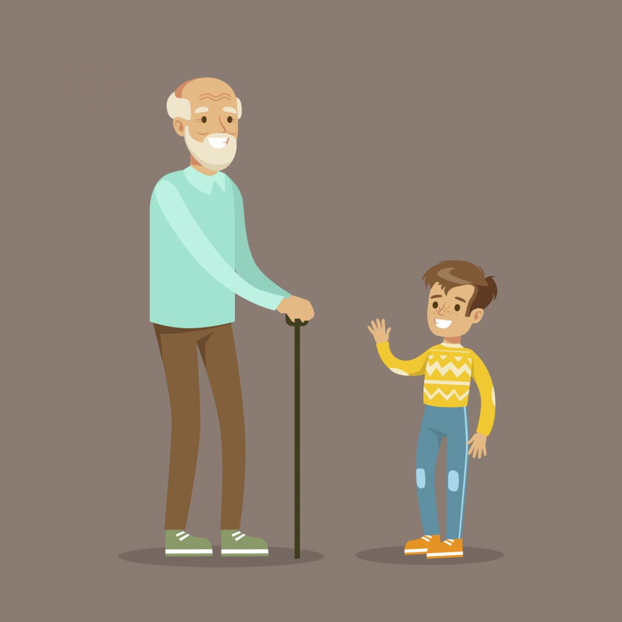 Иллюстрация к анекдоту про еврейского дедушку и игрушку для внука