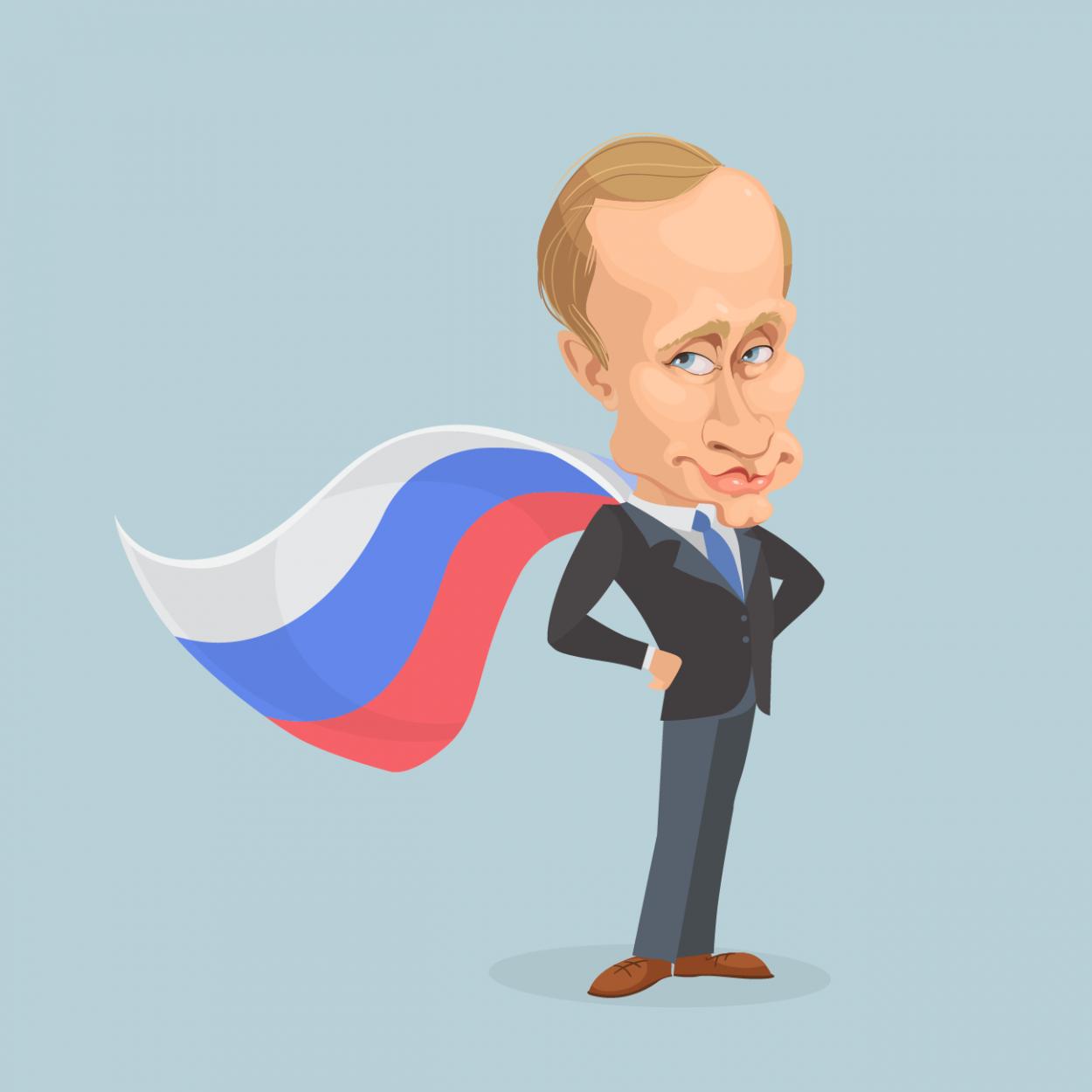 Иллюстрация к анекдоту про помощь Путина Джорджу Бушу