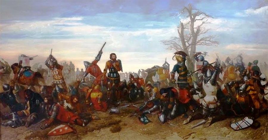 Поединок английских рыцарей и сквайров