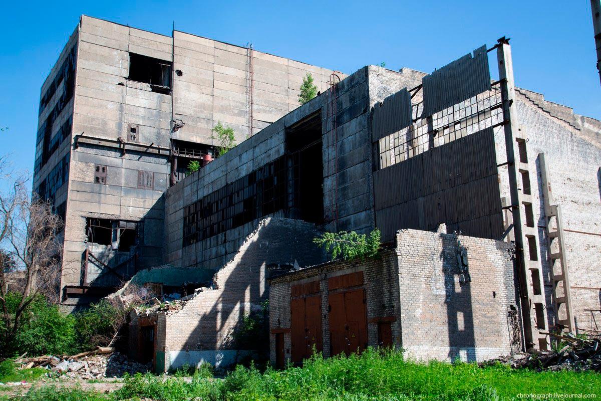 Забетонированный цех завода «Куйбышевфосфор»