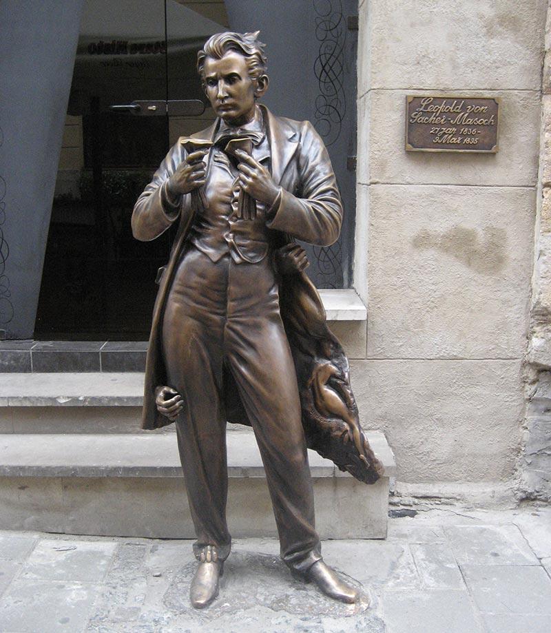 Памятник Захер-Мазоху во Львове