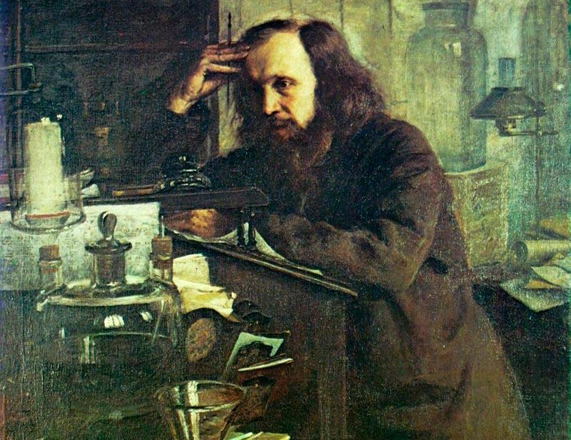Портрет Д. И. Менделеева