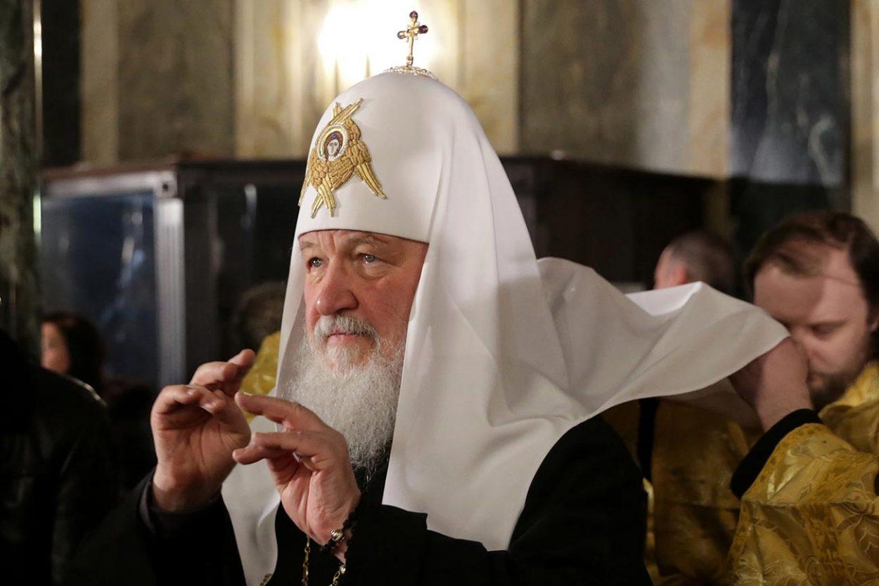 Патриарх Кирилл и его головной убор «Колбук»