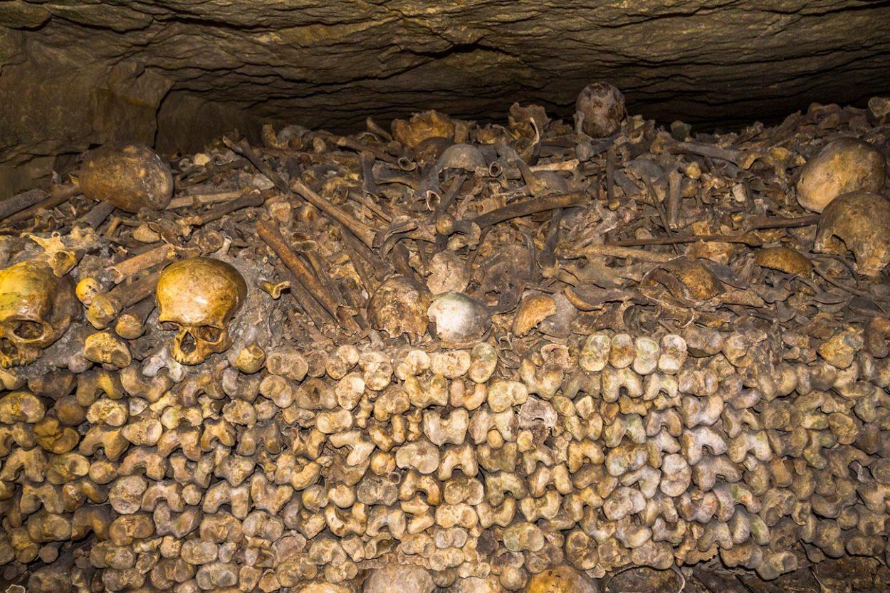 Кости и черепа уложенные друг на друга