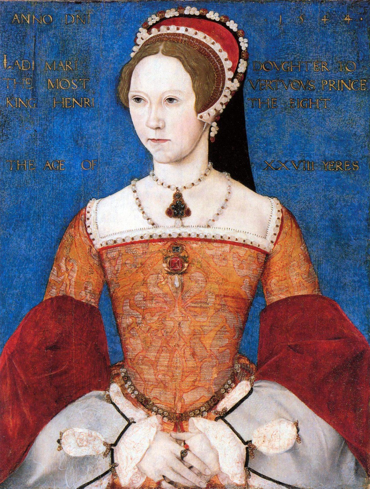 Портрет Марии Тюдор. Мастер Джон, 1544 год