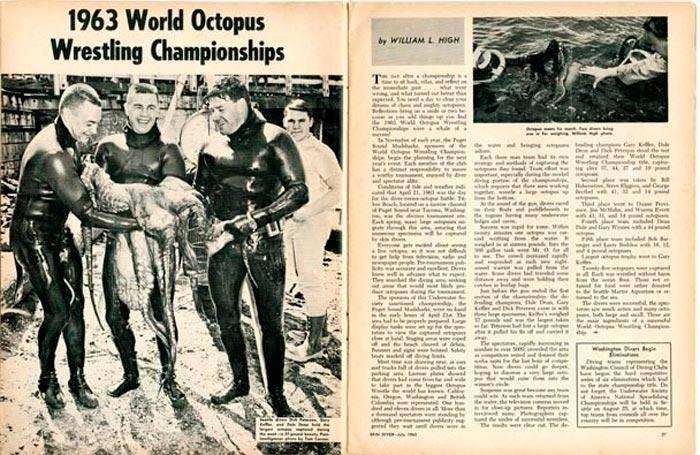 Статья в журнале Time о мировом чемпионате по борьбе с осьминогом