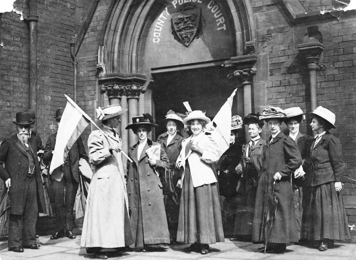 Британские суфражистки на демонстрации. 1911 год
