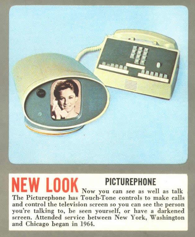 Реклама видеотелефонной связи в 1964 году