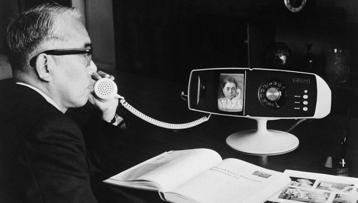 Испытание видеотелефона Toshiba model 500, 1968 год