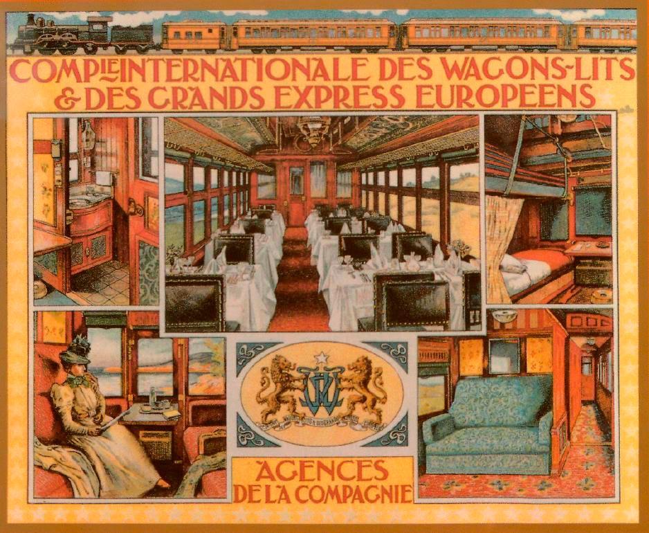 Рекламный проспект 1898 года, показывающий убранство вагонов первого класса