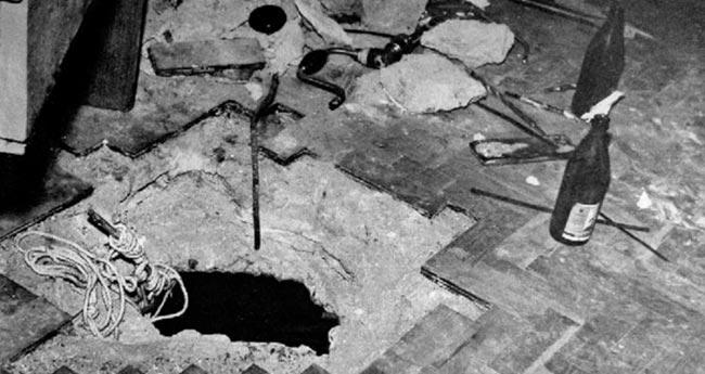 Дыра в полу над хранилищем госбанка Армянской ССР