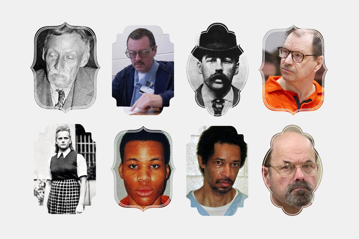 Портреты маньяков и серийных убийц