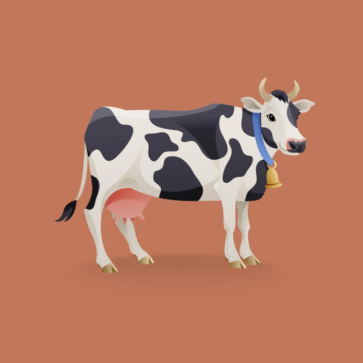 Иллюстрация к анекдоту про краденную корову и железную логику
