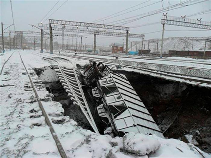 Провал «Малыш» на железнодорожной станции «Березники»